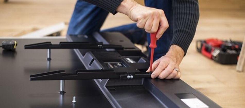 تعمیر ال سی دی شکسته تلویزیون ایکس ویژن